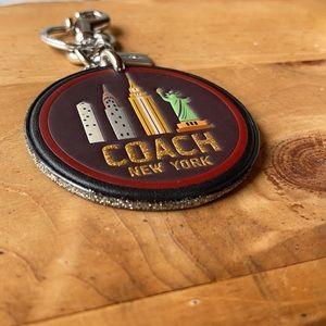 COACH leather NYC skyline bag charm & key chain